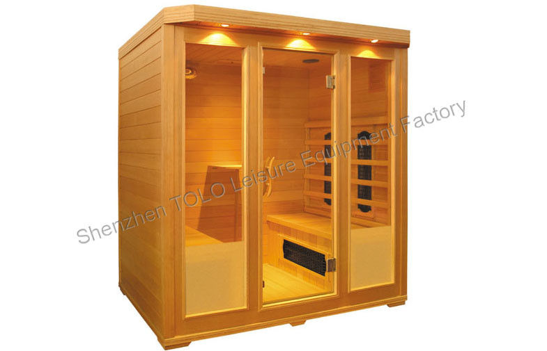 Dry Sauna Far Infrared Sauna Cabin , Cedar And Full